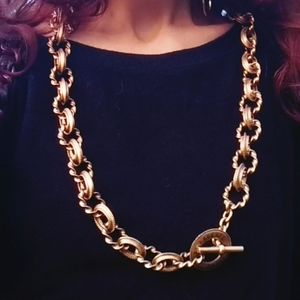 Karl Lagerfeld Paris Gold Chain Toggle Necklace